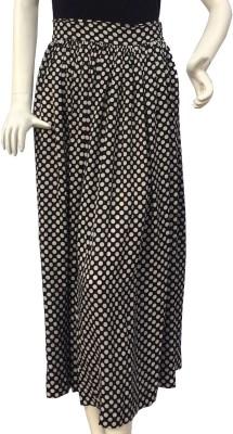 Jupi Polka Print Women,s Gathered Black, White Skirt