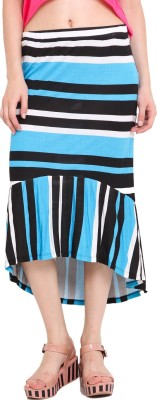 Studio West Striped Women's Regular Blue Skirt