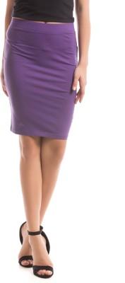 Prym Solid Women's Regular Purple Skirt