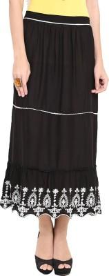 Trend Arrest Solid Women,s Regular Black Skirt
