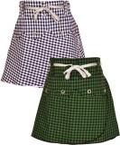 Gkidz Checkered Girls A-line Blue, Green...