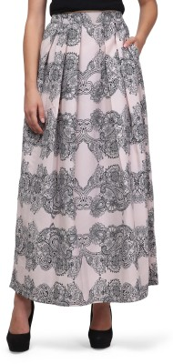 Eavan Floral Print Women's Pleated Beige Skirt at flipkart