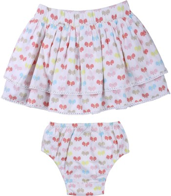 ShopperTree Printed Baby Girl's Pleated Multicolor Skirt
