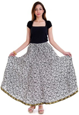 Sunshine Floral Print Women's Regular Multicolor Skirt