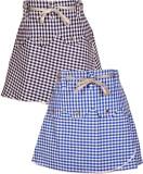 Gkidz Checkered Girls A-line Blue Skirt