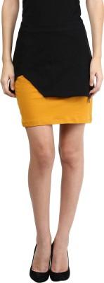 Besiva Solid Women's Pencil Black Skirt