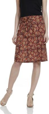 James Scot Printed Women's A-line Multicolor Skirt