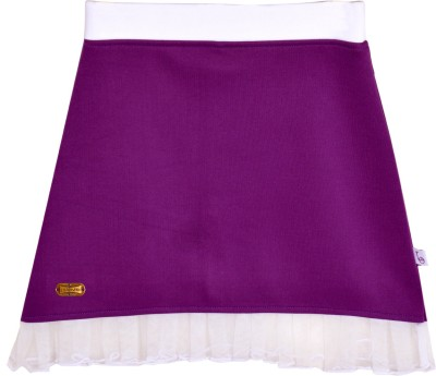 Lil Orchids Solid Girl,s A-line Purple Skirt