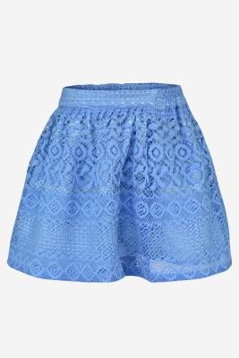 Pspeaches Self Design Girls A-line Blue Skirt at flipkart