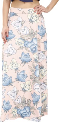 Svt Ada Collections Floral Print Women's Regular Orange Skirt