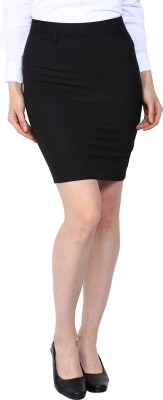 Arrow Solid Women's Pencil Black Skirt at flipkart