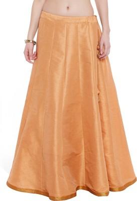 9rasa Solid Womens Regular Beige Skirt