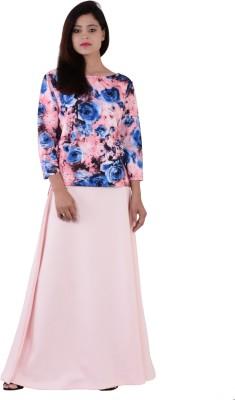 Fashnopolism Solid Women's A-line Pink Skirt