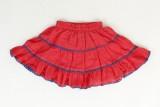 Tillu Pillu Solid Girls Regular Red Skir...