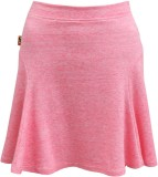 Abstract Mood Solid Girls A-line Pink Sk...