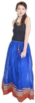 Navya Creations Printed Women's Straight Blue Skirt