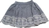 Blue Giraffe Woven Girls Gathered Grey S...