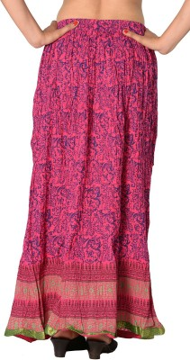 SBS Printed Women's Regular Pink Skirt