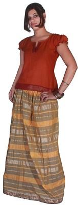 Selfi Printed Women's Regular Brown Skirt