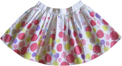 Caca Cina Printed Girl's Pleated Multicolor Skirt