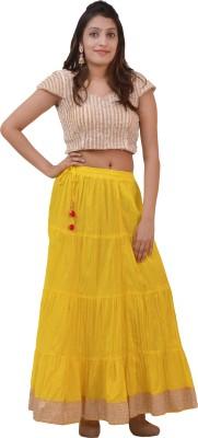carrol Solid Women's A-line Yellow Skirt