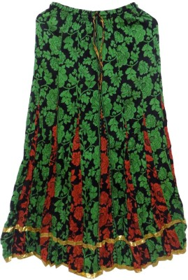 Jaipur Craft Shop Floral Print Women's Straight Multicolor Skirt