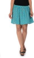 Goodwill Impex Printed Womens Regular Blue Skirt