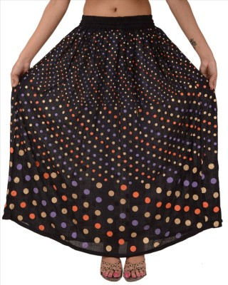 Skirts & Scarves Polka Print Women's Regular Black Skirt