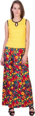 Essential Elements Geometric Print Women's Gathered Multicolor Skirt