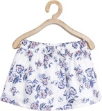Yk Woven Girls A-line White Skirt