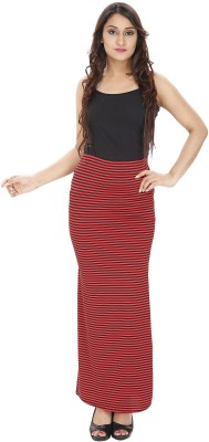 Franclo Striped Women,s Pencil Red, Black Skirt