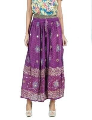 PINK SISLY Printed Women's Layered Purple Skirt