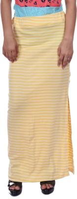 Gwyn Lingerie Printed Women's Straight Yellow Skirt