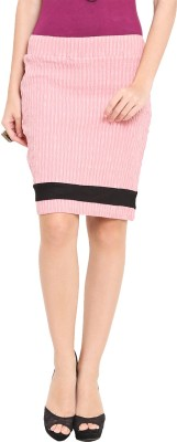 Trend Arrest Solid Women,s Pencil Pink Skirt