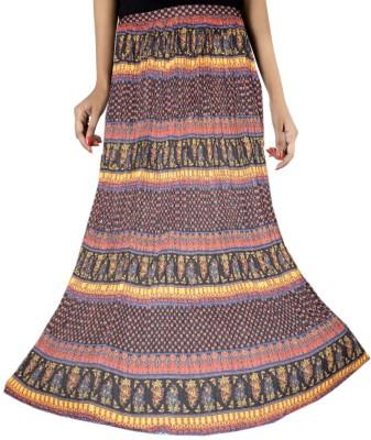 Kashana Fashions Printed Women's Wrap Around Multicolor Skirt