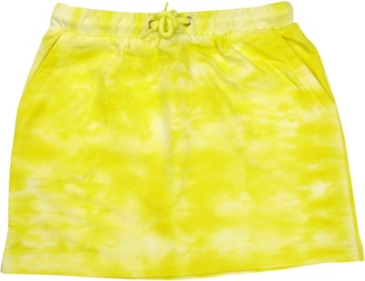 Raine And Jaine Printed Girl's A-line Yellow Skirt