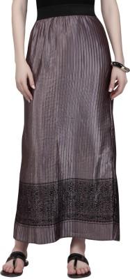 Globus Printed Women's A-line Beige Skirt
