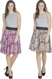 Shopingfever Printed Women's A-line Purp...