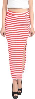 Shopdayz Striped Women's Straight Red Skirt