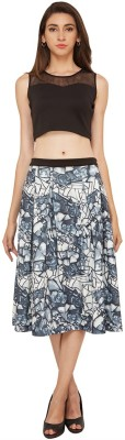 SOIE Printed Women's A-line Multicolor Skirt