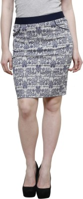 Westwood Graphic Print Women's Wrap Around Blue Skirt