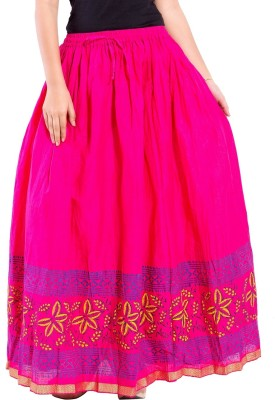 Decot Paradise Solid Women's Regular Pink Skirt
