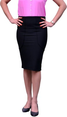 Change360? Solid Women's Pencil Black Skirt