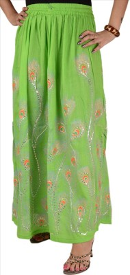 Skirts & Scarves Solid Women's A-line Green Skirt
