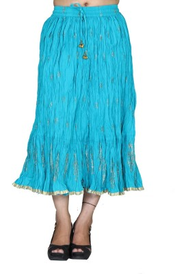 Chhipaprints Printed Women's Regular Light Blue Skirt