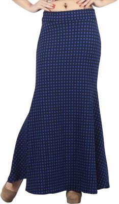 FamGlam Printed Women's Straight Blue Skirt