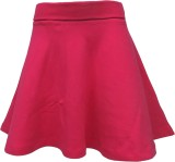 Kothari Solid Girls Regular Pink Skirt
