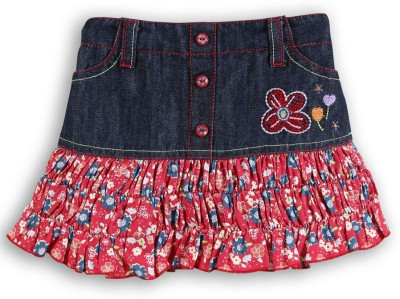 Lilliput Solid Baby Girl's A-line Blue Skirt