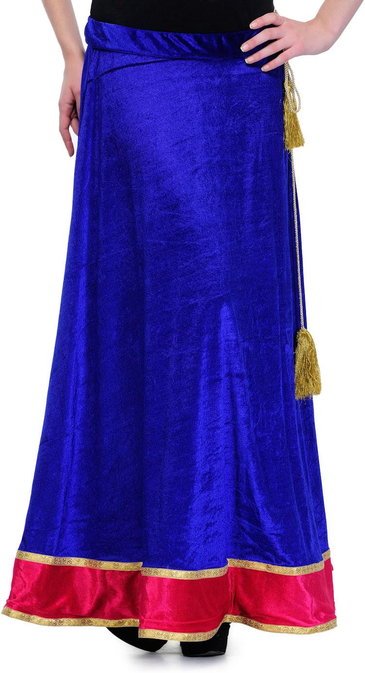 Lmode Solid Womens A-line Dark Blue Skirt