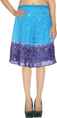 Rajrang Printed Women's Wrap Around Light Blue, Blue Skirt at flipkart